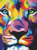 "Алмазная вышивка-мозаика ""Взгляд льва"" (150х200 мм)"
