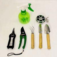 Набор инвентаря в сумочке (совки, культиватор, секатор, ножницы, распылитель, проволока)