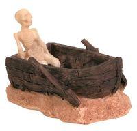 "Декорация для аквариума ""Скелет в лодке"" (12 см; арт. 8974)"