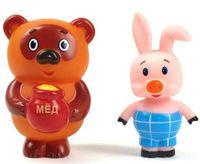 """Набор игрушек для купания """"Винни-Пух и Пятачок"""" (2 шт.)"""