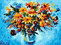 "Картина по номерам ""Разноцветные ромашки"" (400х500 мм)"