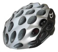"Шлем велосипедный ""Whisper Plus"" (M; белый/карбон/серебристый)"