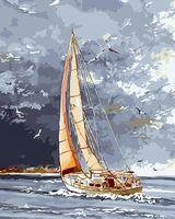"""Картина по номерам """"Попутный ветер"""" (400х500 мм)"""