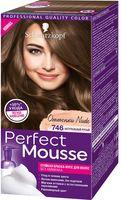 """Краска-мусс для волос """"Perfect Mousse"""" тон: 746, натуральный русый"""